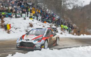 WRCモンテカルロ:チーム内バトルを制しエバンスが首位浮上。オジエは4.9秒差の総合2位で最終日に挑む