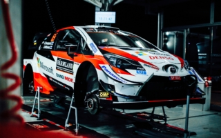 WRCスウェーデン:シェイクダウン1はトヨタ勢がトップ3を占める。勝田は6番手