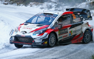 WRCスウェーデン:2日目を終えエバンスがリードを拡大、勝田は9番手を維持。最終日は異例の1SSで実施へ