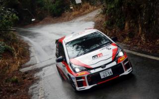 全日本ラリー新城:TGR Vitz GRMN Rally、天候の変化に対応しクラス優勝を達成