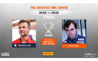 WRC.com「最も偉大なWRCドライバー決定戦」ファイナル ローブ対サインツの投票を受付中