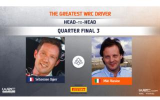 WRC.com「最も偉大なWRCドライバー決定戦」準々決勝 オジエvsビアジオンの投票を受付中