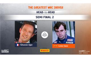 WRC.com「最も偉大なWRCドライバー決定戦」準決勝 オジエ対サインツの投票を受付中