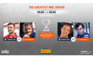 WRC.com「最も偉大なWRCドライバー決定戦」セミファイナルの組み合わせが決定