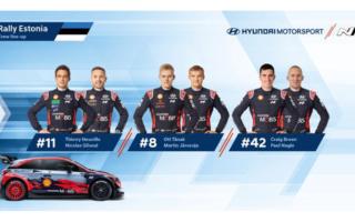 ヒュンダイ、WRCエストニアにタナック、ヌービル、ブリーンの3台で臨む