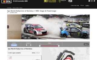 WRCベルギーと同日開催の世界RXスパが観戦チケットを販売開始