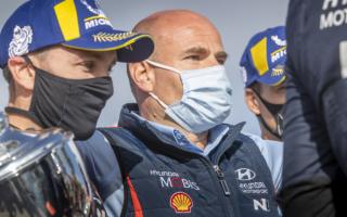 WRCイタリア:アダモ「プライオリティを考えればティエリーだけ」イベント後記者会見