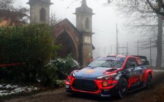 WRCモンツァ:極寒のシェイクダウン、トップはヌービル。勝田は5番手