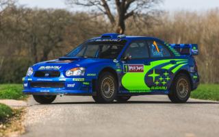 2004年ラリージャパン優勝車のインプレッサWRC2004がオークション出品