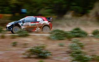 WRCサルディニア:5度のベストタイムでオジエが首位に。エバンスは総合2番手に浮上