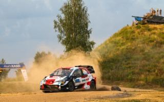 WRCエストニア:SS1を終えてトヨタのロバンペラが首位。勝田は1.9秒差の15番手