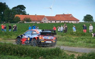 WRCベルギー:シェイクダウンはヒュンダイのヌービルがトップ。勝田は8番手