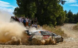 WRCギリシャ:競技2日目、トヨタのカッレ・ロバンペラが僅差で首位