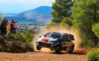 WRCギリシャ:トヨタ勢はロバンペラが首位に。オジエは僅差の3番手